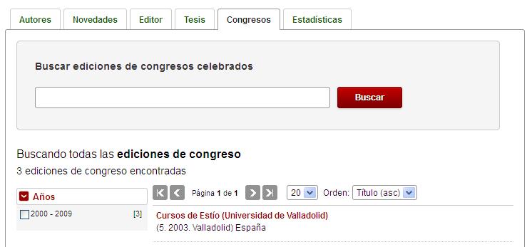 Pestaña Congresos