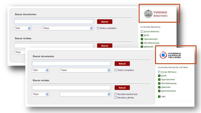 Personalización de la imagen de Dialnet