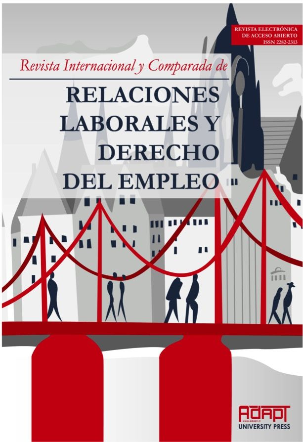 Resultado de imagen para REVISTA INTERNACIONAL Y COMPARADA DE RELACIONES LABORALES Y DERECHO DEL EMPLEO