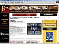 Imagen de portada de la revista Razón y palabra