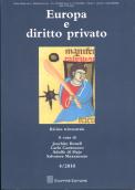 Imagen de portada de la revista Europa e diritto privato